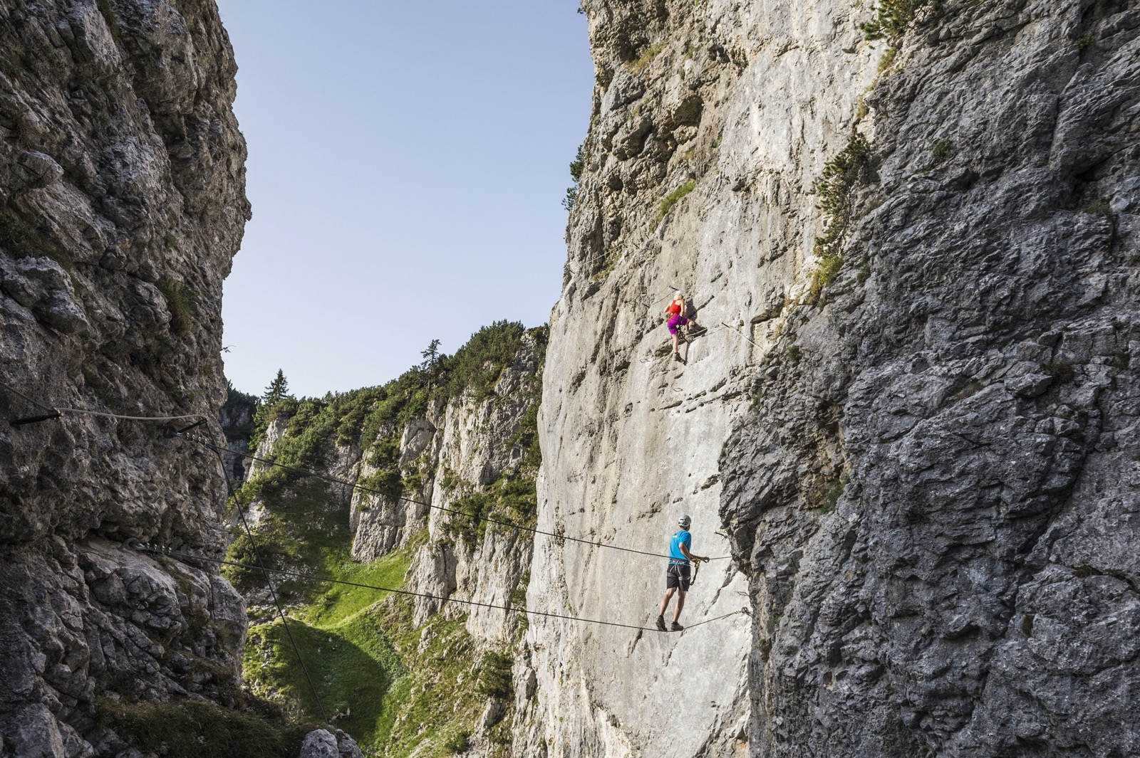 Klettersteig Klamm, Foto Peter von Feldbert I Climbers Paradise