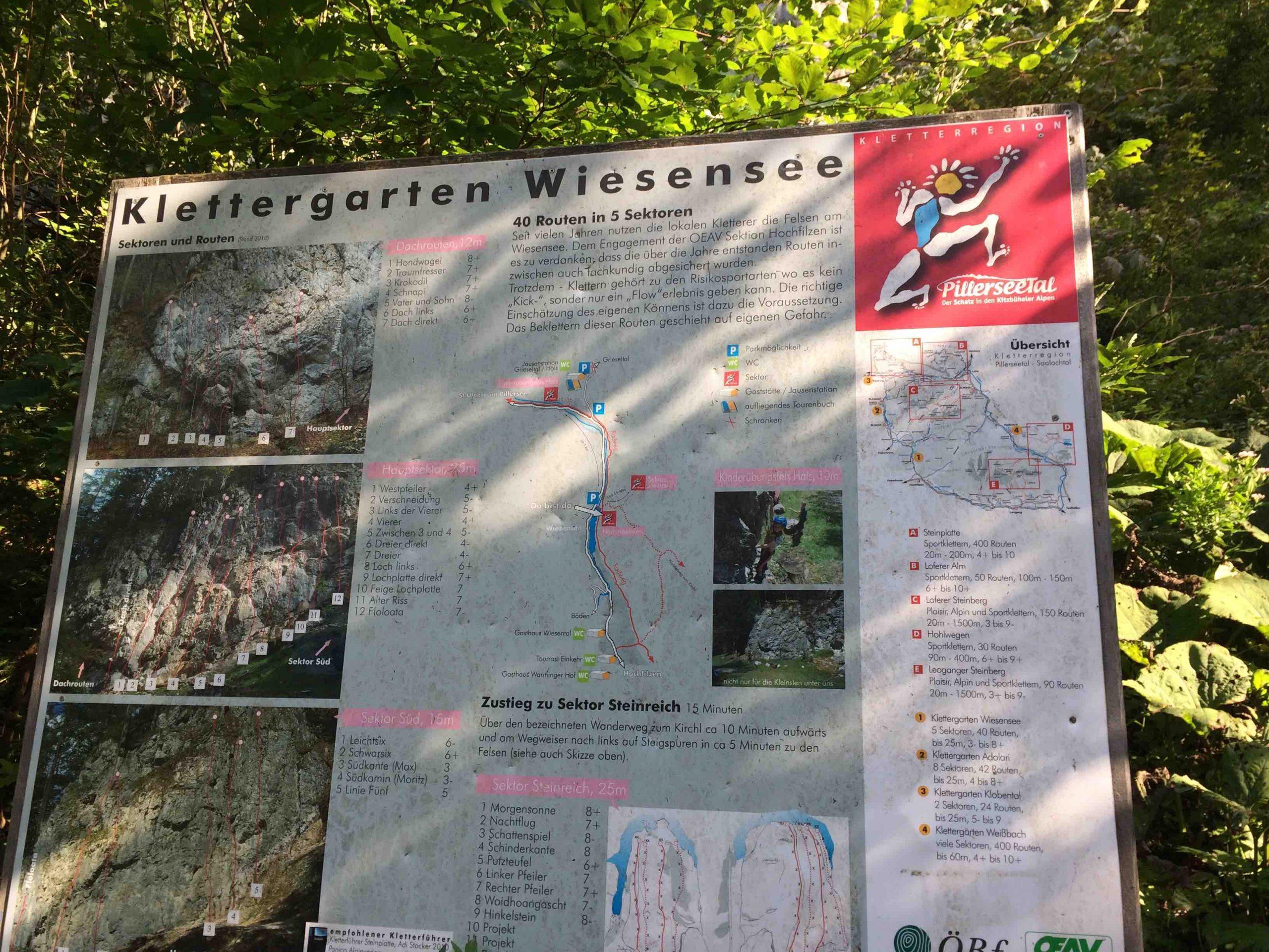 Steinberge - Übersicht Kletterfelsen Wiesensee, Foto: Susa Schreiner I Climbers Paradise