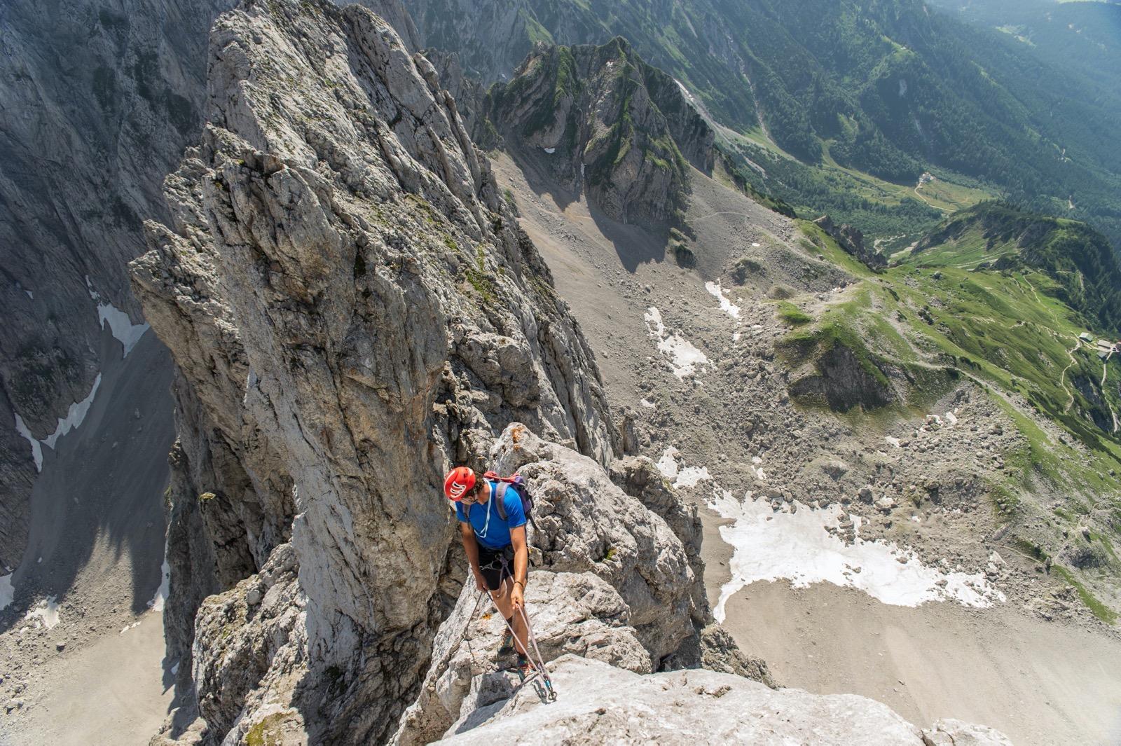 Kopftörlgrat, Gipfel, Foto Roland Schonner I Climbers Paradise