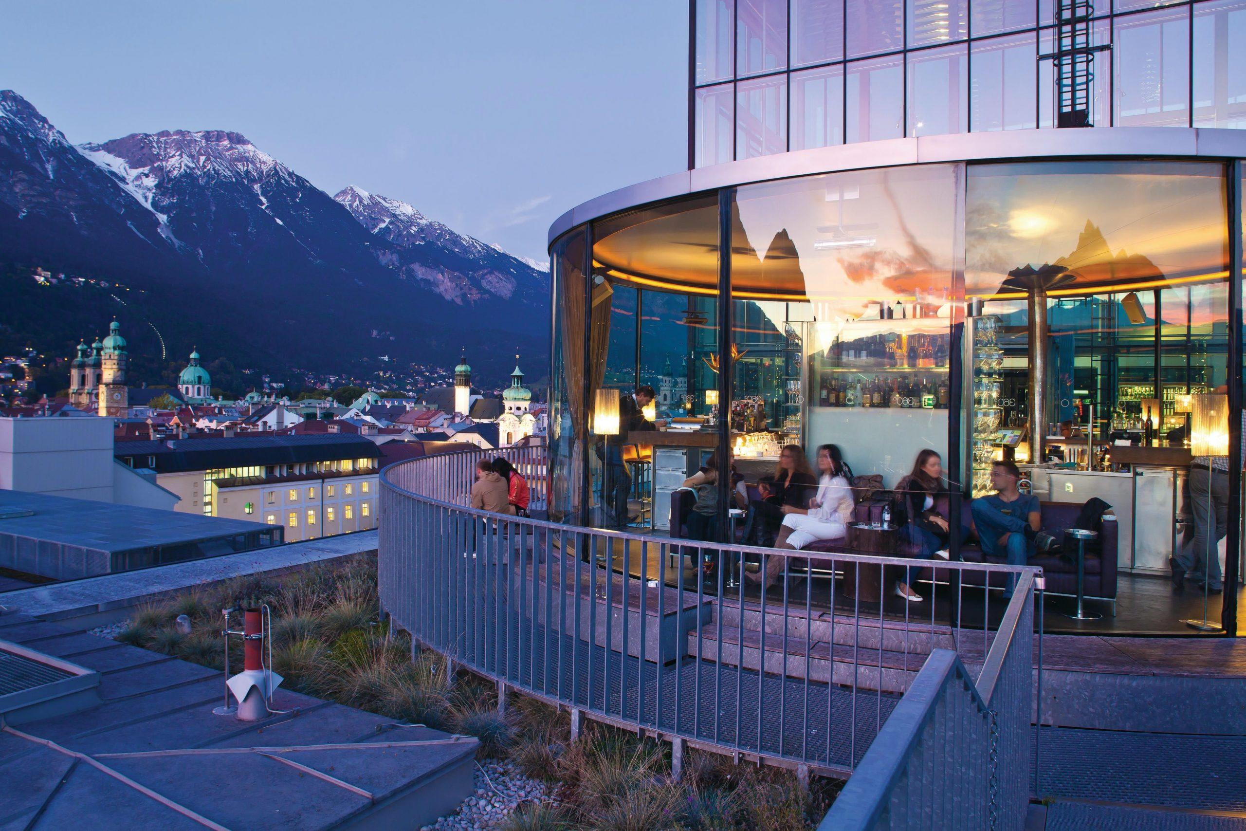 Bar Lichtblick 360 Grad,Foto: Innsbruck Tourismus, Christof Lackner I Climbers Paradise