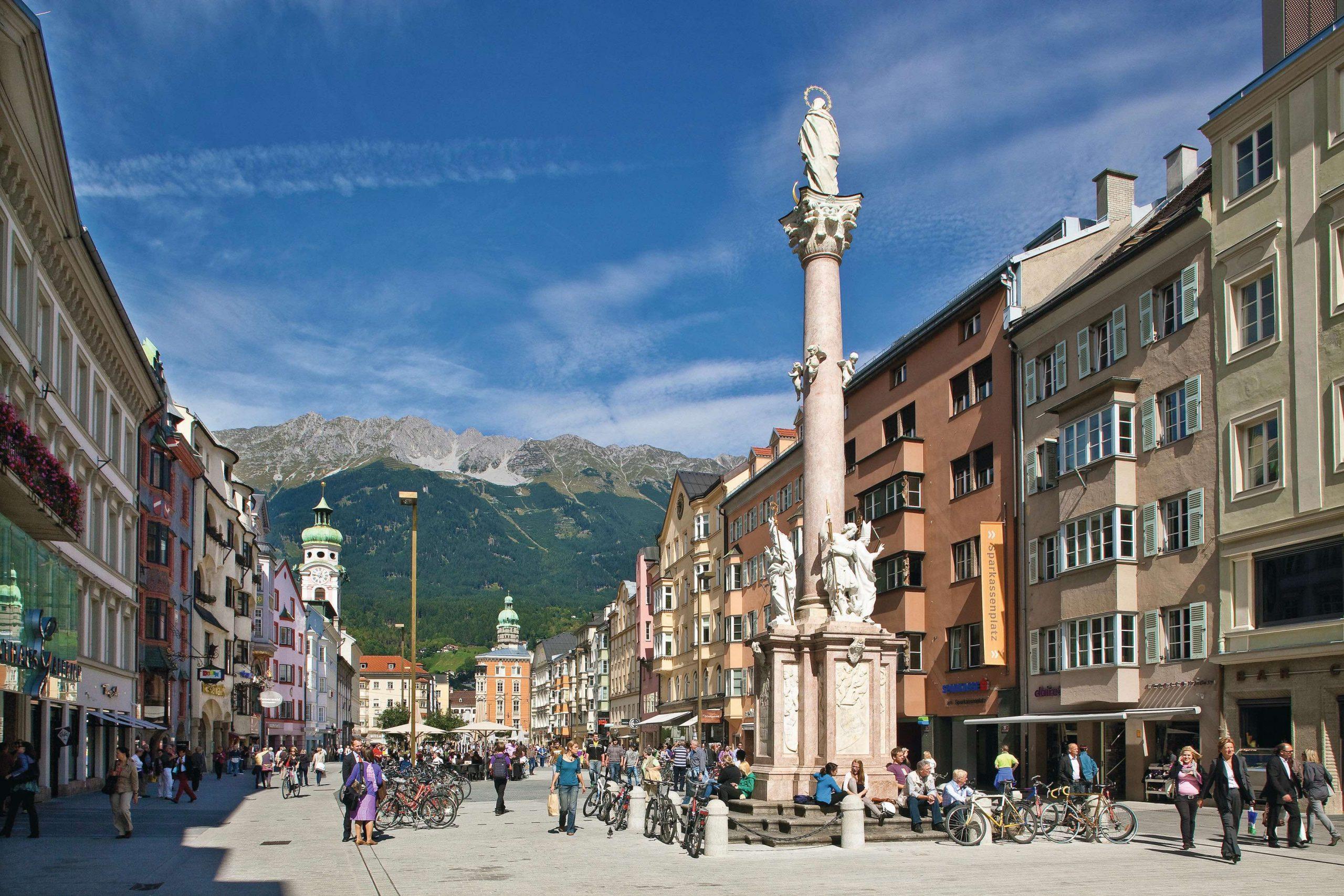 Maria Theresien Straße Innsbruck, Foto: Innsbruck Tourismus, Christof Lackner I Climbers Paradise
