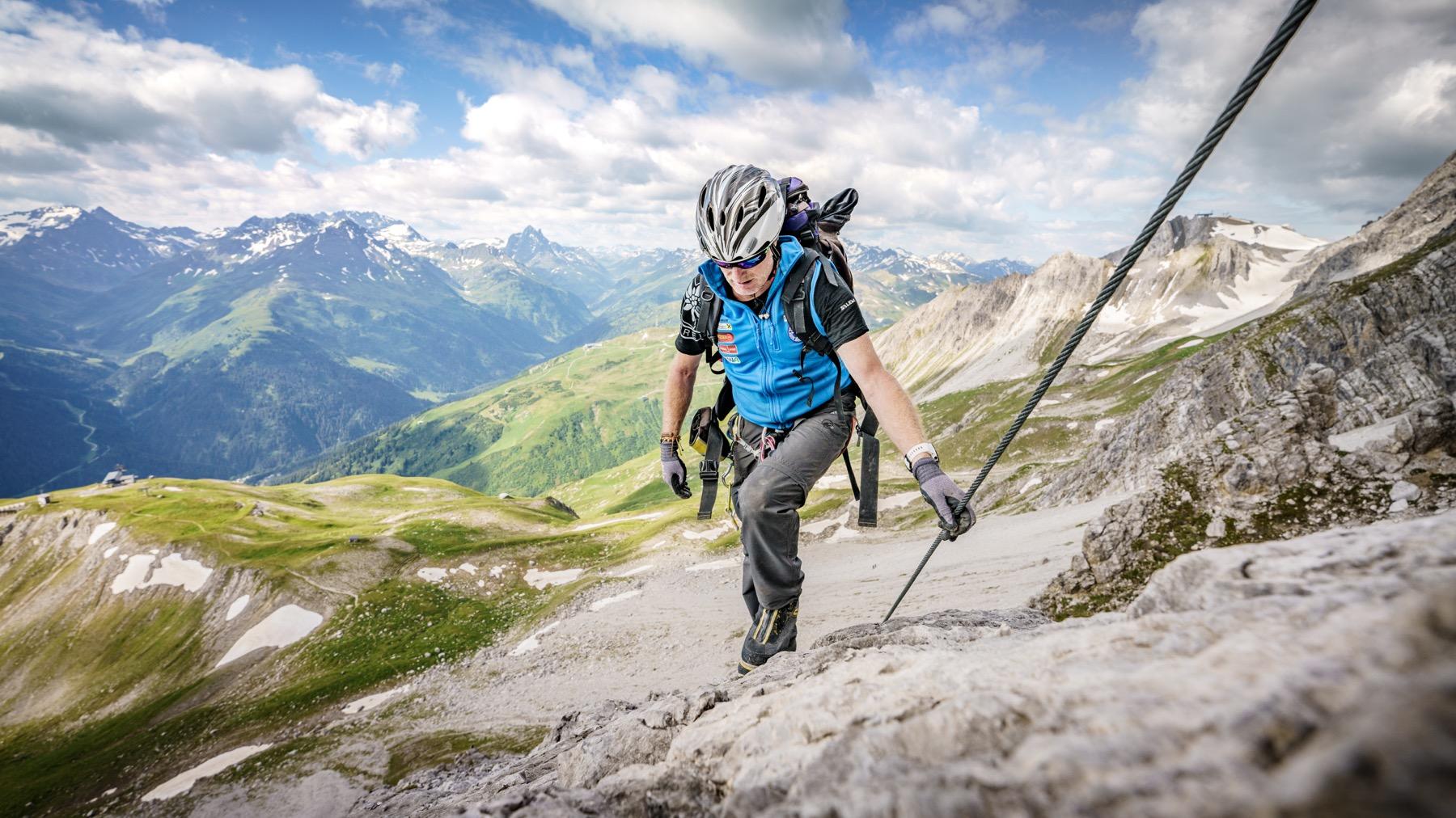 Erisch-Schweiger-Kletterseig - St. Anton am Arlberg, Foto: TVB St. Anton, Patrick Bätz I Climbers Paradise