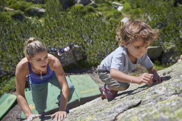 Paznaun-Bouldern Kids; Foto: TVB Paznaun-Ischgl I Climbers Paradise
