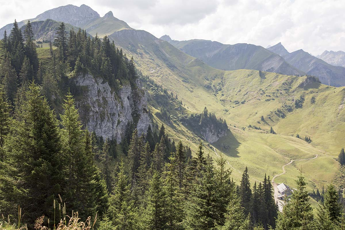 Tannheimer Tal, Klettergebiet Kanzel - Übersicht, Foto: TVB Tannheimer Tal, Michael Gabl I Climbers Paradise