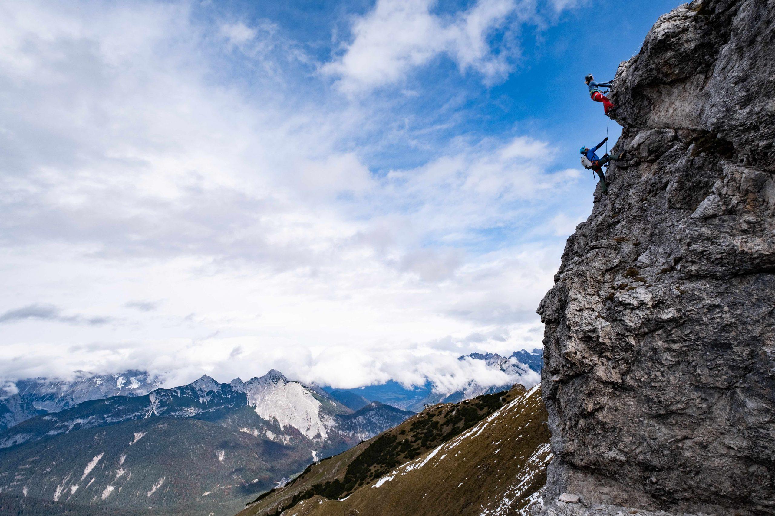 Klettersteig Seefelder Spitze, Foto: Hannes Mair, alpsolut I Climbers Paradise