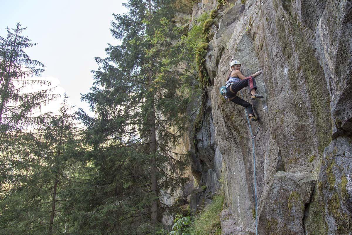 Im Klettergarten Unterwelt im Pitztal, Foto: Climbers Paradise