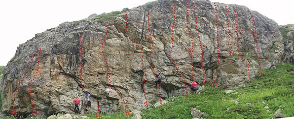 Kletterarena Jamtal, Foto: TVB Paznaun