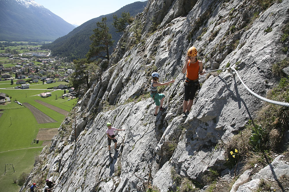 Klettersteig Haiming : Klettersteige ferienregion imst